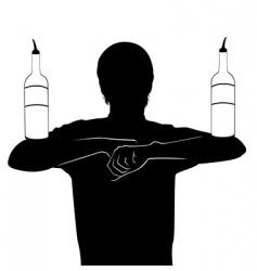 Barman cocktail vector