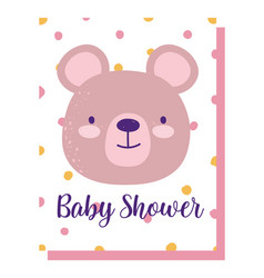 Bashower cute animal face bear dotted vector