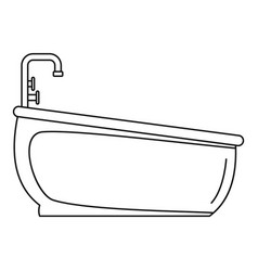 bathtube water tap icon outline style vector image