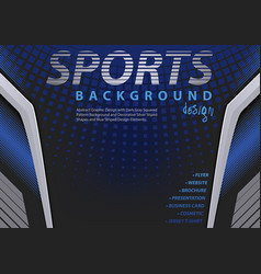 Blue-black background in sport design style vector