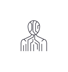 Body digital structure line icon sign vector
