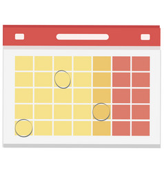 calendar day graphic template empty space vector image