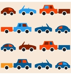 Car seamless pattern vector