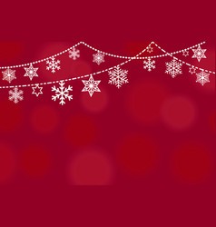 christmas greeting card design with border from vector image