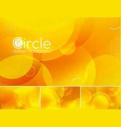 Circle abstract background - yellow vector