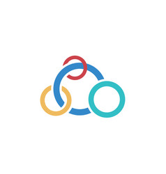 circle olimpiade business logo vector image
