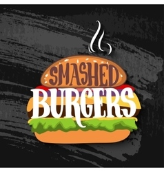 Classic burger with lettering on chalk board vector