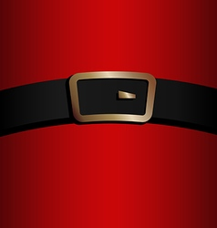 coat and belt of santa claus vector image - Santa Claus Belt