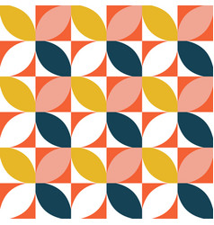 Colorful geometric seamless pattern mid century vector