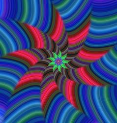 Colorful spiral stripe fractal design vector