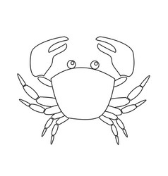contour image crab isolated on white background vector image