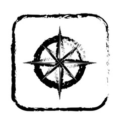 contour symbol compass icon vector image