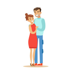 couple overwhelmed with happiness and joyfully vector image