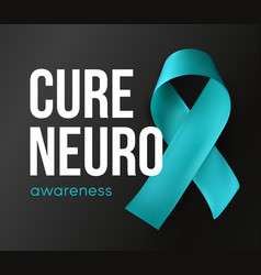cure neuro symbol awareness abstract turquoise vector image