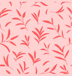 decorative seamless botanical pattern in vector image