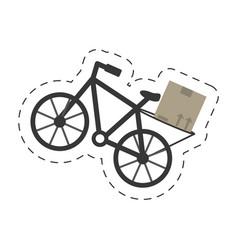 Delivery bicycle box transport vector
