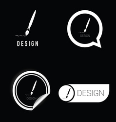 design icon in black and white vector image