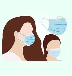 Disposable face mask vector