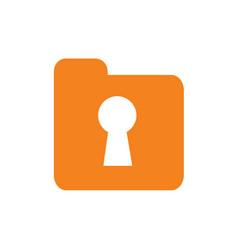 document folder with keyhole logo vector image