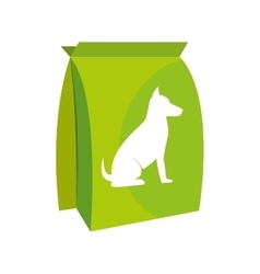 Dog bag food icon vector