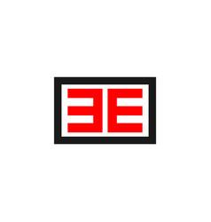 Ee logo template design vector