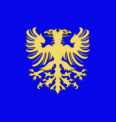 Flag of alencon in orne of normandy is a region vector