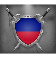 Flag of Haiti Medieval Background vector