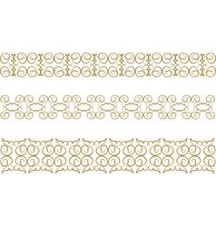 floral pattern border vector image