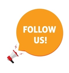 Follow us for social networks vector