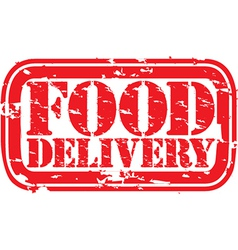 Food delivery stamp vector image