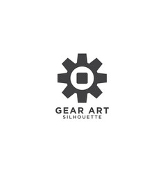 gear silhouette template vector image