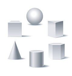 geometric 3d figures vector image