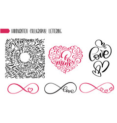 Happy valentines day text love for greeting card vector