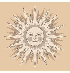 Heraldic sun ancient vector