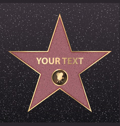 Hollywood star celebrity fame walk golden vector