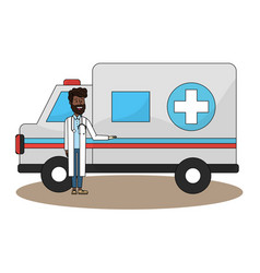 Isolated medical ambulance design vector
