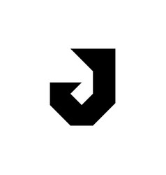 j letter logo vector image