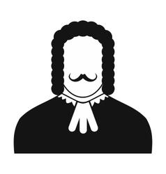 Judge black icon vector