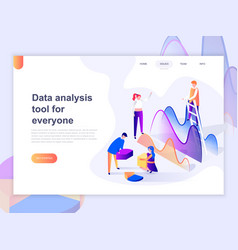landing page template data analysis vector image