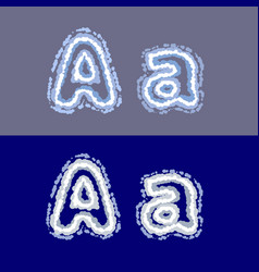letter a on grey and blue background vector image