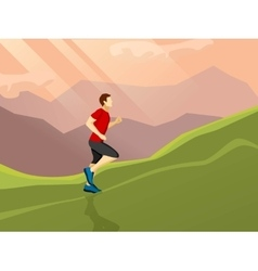 Man Running Flat Icon vector image