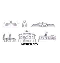 Mexico mexico line travel skyline set mexico vector