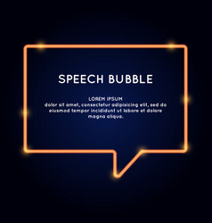neon speech bubble quote blank template vector image