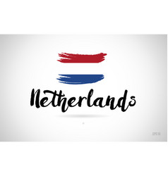 netherlands country flag concept with grunge vector image