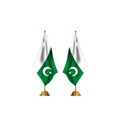 Pakistan table flag template design vector
