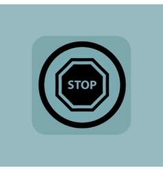 Pale blue STOP sign vector