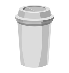 Paper cup for coffee icon gray monochrome style vector image