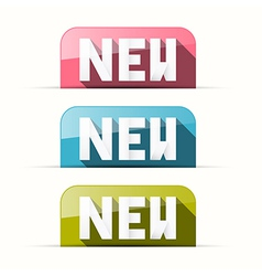 Paper Pink Blue Green New Tags vector image