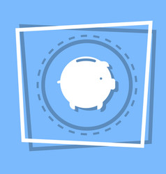 Piggy bank icon savings money concept web button vector