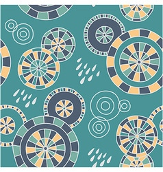 Rain in Kyoto - seamless pattern vector